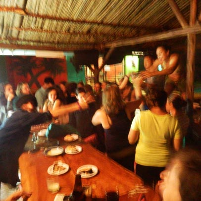 A party at Sundowners Backpackers Hostel