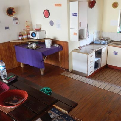 Self-catering guest kitchen