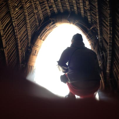 Inside a traditional Swazi hut at Mantenga Cultural Village